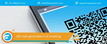 QR code generation in E-invoicing