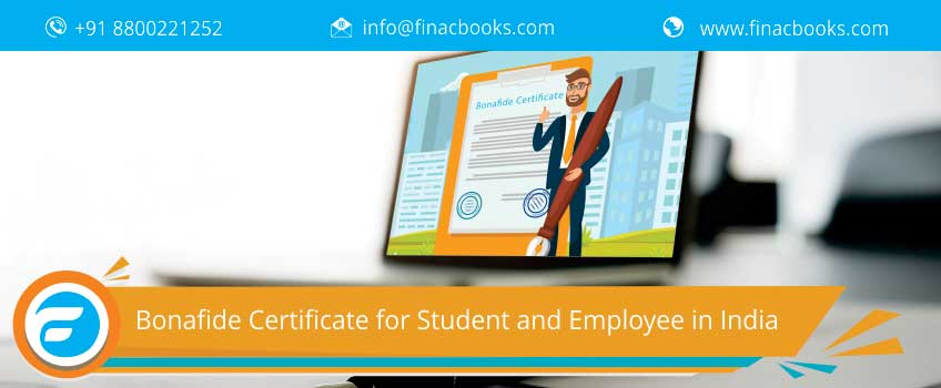 Bonafide Certificate for Student and Employee in India