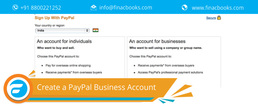 Create a PayPal Business Account