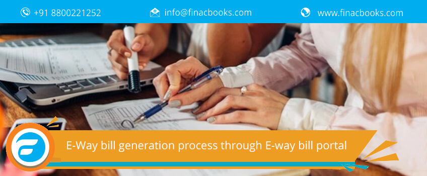 E-Way bill generation process through E-way bill portal