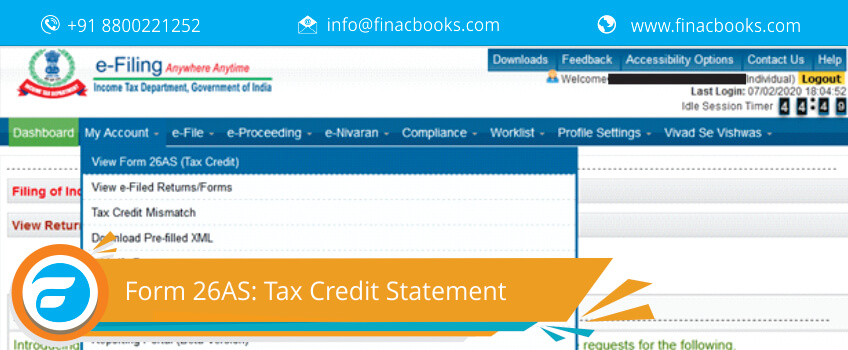 Form 26AS: Tax Credit Statement