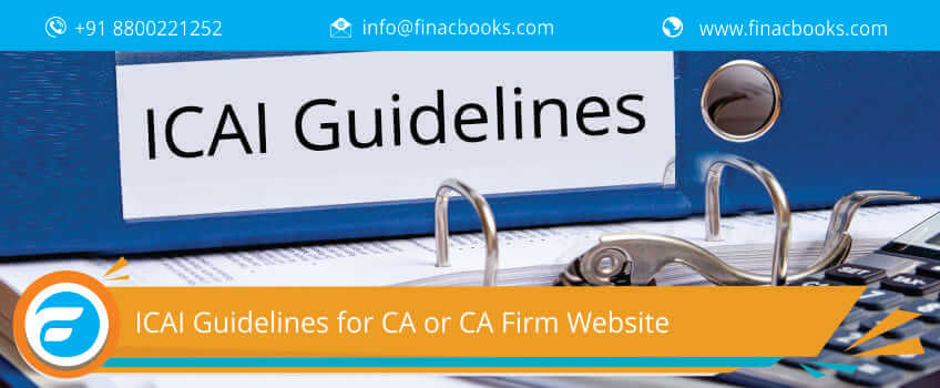 ICAI Guidelines for CA or CA Firm Website