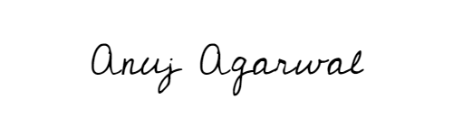 Anuj Agarwal Signature